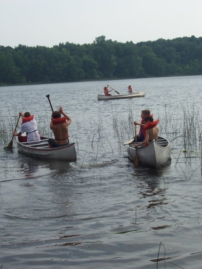 photo of children canoeing at MUCC camp       Courtesy of MUCC