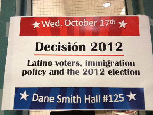 Event sign at University of New Mexico.PHOTO Credit Pili Tobar.
