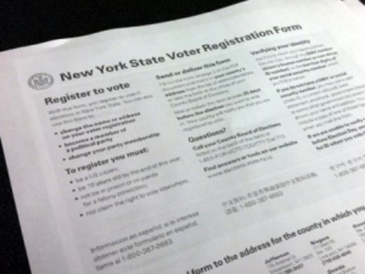 PHOTO: A voter registration drive that started this summer is reporting success in registering more than five-hundred new New York voters.