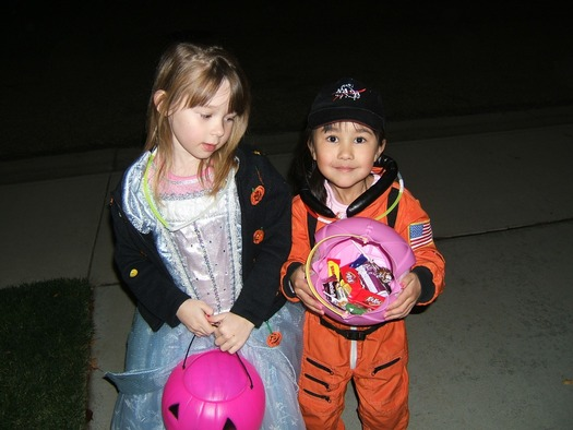 PHOTO: Children's risk of being hit by a car on Halloween is double that of any other time of year. Photo credit: Deborah C. Smith