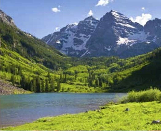 PHOTO: Maroon Bells in Summer, Aspen, Colorado. Courtesy Headwaters Economics.