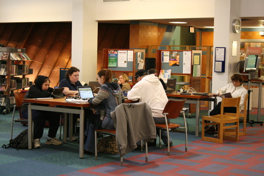 "PHOTO: ""Sandy"" refugees at Middle Country Public Library"