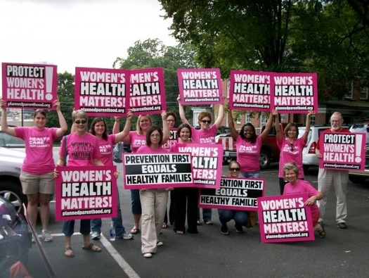 Photo: Women campaign for health care. Courtesy: Planned Parenthood