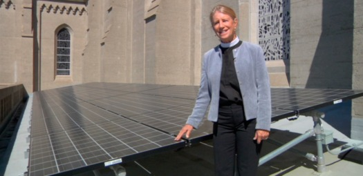 Rev. Sally Bingham at Grace Cathedral in San Francisco.