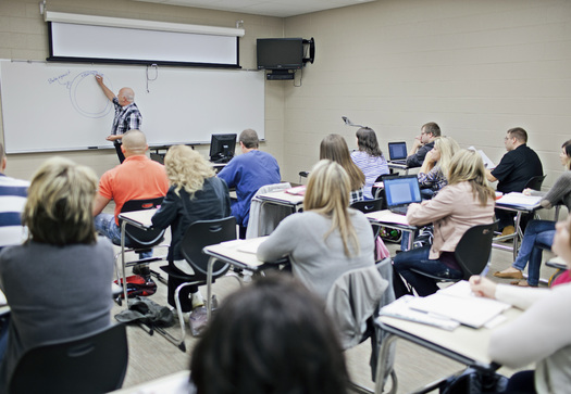PHOTO:  More than 100,000 students attend Kentucky community colleges.  Credit: Chris Witzke, Kentucky Community and Technical College System