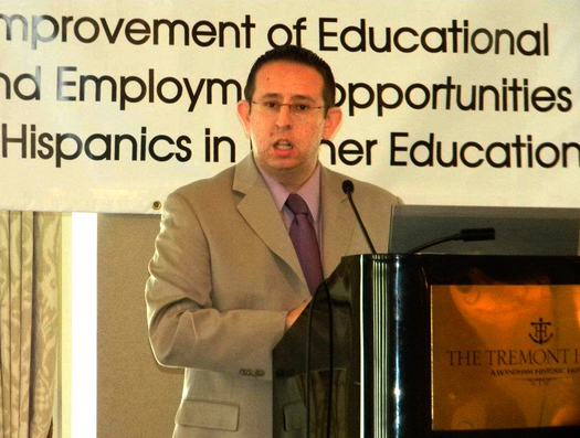 Luis Figueroa speaking at the Texas Association of Chicanos in Higher Education Conference (March 2012). Permission: Luis Figueroa