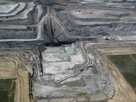 PHOTO: The Black Thunder coal mine is located in Wyoming's Powder River Basin. Photo courtesy of Ecoflight.