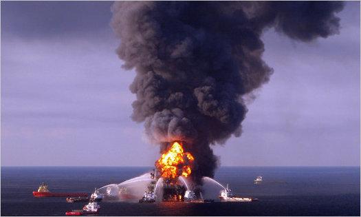 Photo: Deepwater Horizon explosion. Courtesy: NWF