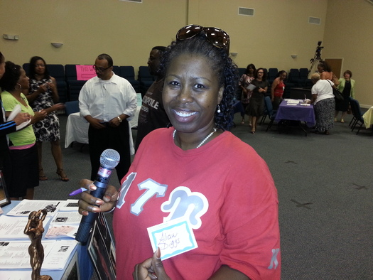 PHOTO: Alicia Diggs from Greensboror volunteering at a health fair. Saturday is World AIDS Day, and Diggs credits medications for keeping her disease in check.. Courtesy Alicia Diggs