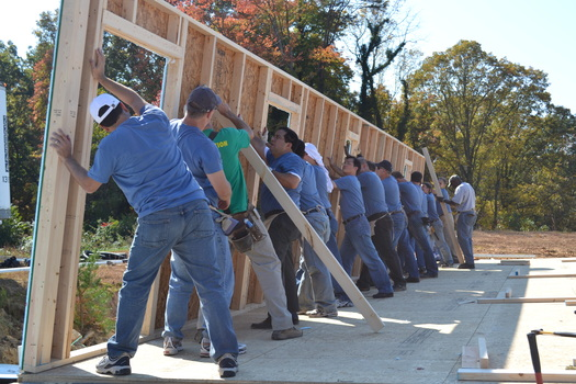 Photo: Habitat for Humanity of Forsyth County volunteers. Courtesy: Habitat for Humanity Forsyth County