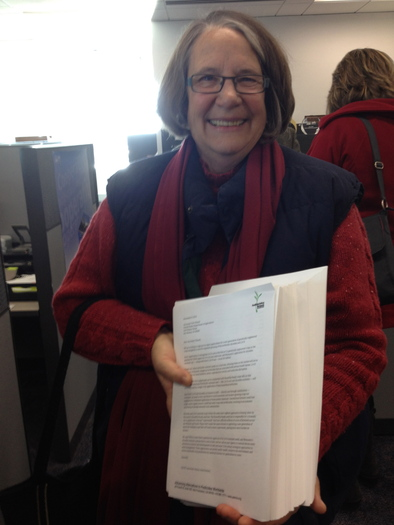 PHOTO: Denise O'Brien is an Iowa farmer who signed the petition asking that new versions of GMO seeds not be approved for use. Courtesy of O'Brien.