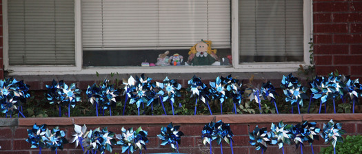 "PHOTO: A federal report finds cases of child maltreatment in Idaho are trending downward. Blue and silver pinwheels are used in the ""Pinwheels for Prevention"" child abuse awareness campaign in the Gem State."