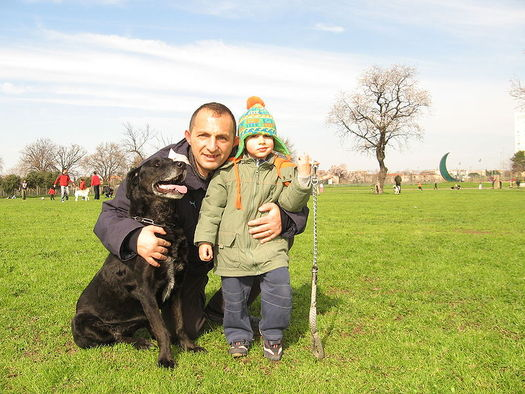 PHOTO: A family-style New Year's resolution: Spend some outdoor time every day. Walking the dog is a great option. Photo from Wikipedia, courtesy Alessandro Zangrilli.