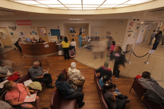 """PHOTO: The waiting room at Highland Hospital in Oakland, Calif., featured in the film """"The Waiting Room."""""""