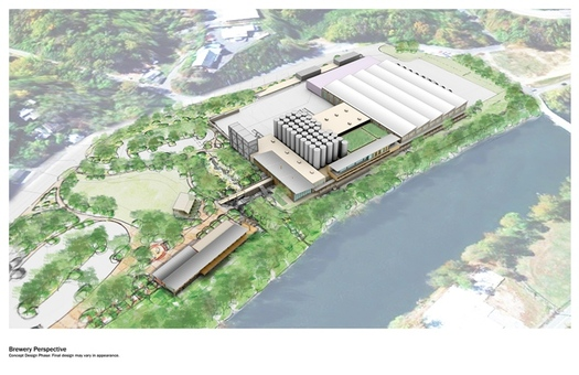 Photo: New Belgium Brewery site rendering, Asheville. Courtesy: New Belgium Brewery