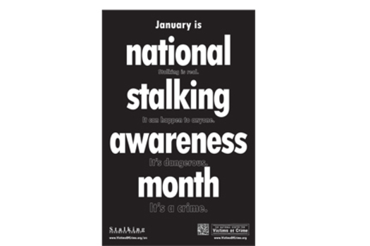 GRAPHIC: Domestic violence prevention groups across the country are spreading the word about National Stalking Awareness Month.