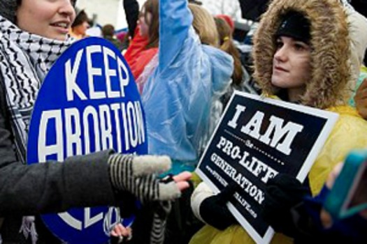 PHOTO: At the 40th anniversary of Roe v. Wade, Pew pollsters have found entrenched attitudes on abortion. Courtesy of Pew Forum on Religion and Public Life.