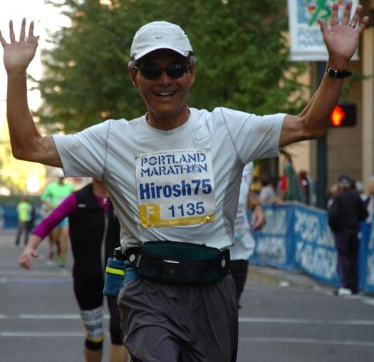 """PHOTO: When he's not running his company, he's running! Hiroshi Morihara, age 75, is one of Oregon's over-50 """"Encore Entrepreneurs."""" Courtesy of Morihara."""