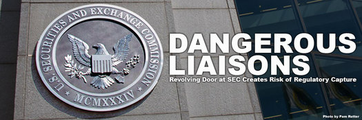 "The U.S. Securities and Exchange Commission is criticized for its ""revolving door"" problem that can lead to conflicts of interest in regulating Wall Street. Photo courtesy POGO."