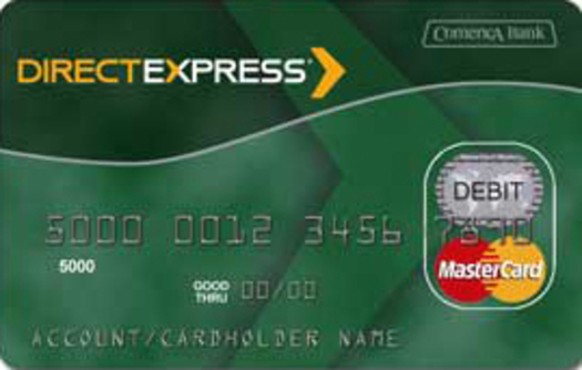 """PHOTO: The U.S. Treasury Dept. is going """"paperless,"""" so anyone who now receives a benefit check needs to arrange to have it deposited directly into their bank or loaded onto a debit card, such as this one. Courtesy of U.S. Treasury."""