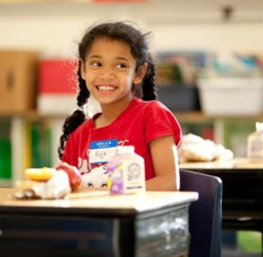 PHOTO: Research shows that academic gains can be traced to participation in school breakfast programs for low-income students. Courtesy of Share Our Strength.