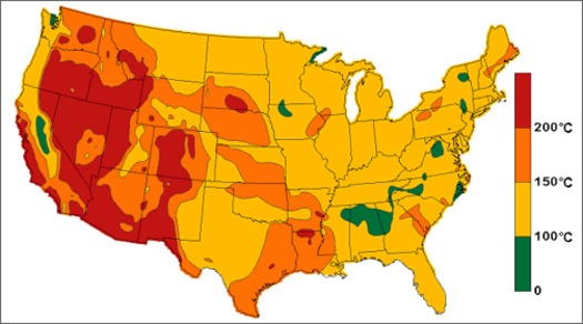 GRAPHIC: Southern and Eastern Oregon are hot spots for geothermal development, although its initial cost and lack of transmission capability mean much of it isn't being used. Courtesy of Oregon Dept. of Energy.