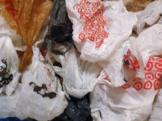 PHOTO: With an eye toward reducing pollution, a ban on single-use bags takes affect today in Austin. Photo credit: John Michaelson