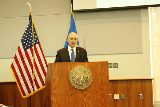 PHOTO: The latest forecast shows the economic picture for Minnesota is improving. What was predicted in November to be a $1.1-billion shortfall for 2014-2015 has now fallen to $627-million. Photo credit: Mark Dayton
