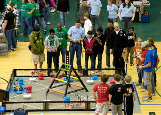 PHOTO: Kids around the country are building robots to enter in competitions. Toppenish Middle School is sending four teams to the next competition, Apr. 17-20, in Anaheim, Calif. Photo courtesy University of Texas-Dallas.