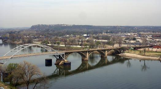 PHOTO: Arkansas river looking across to Little Rock.  Image credit: Belinda Hankins Miller