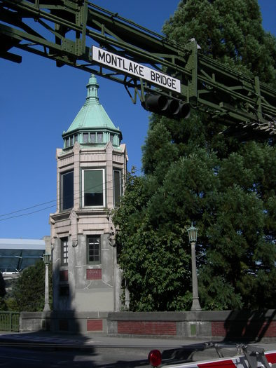 PHOTO: In 2007, Mickey Gendler was cycling on Seattle's historic Montlake Bridge when his tire got caught in a gap in the metal grating. The accident severely injured his spinal cord. Photo credit: Joe Mabel at Wikimedia Commons.