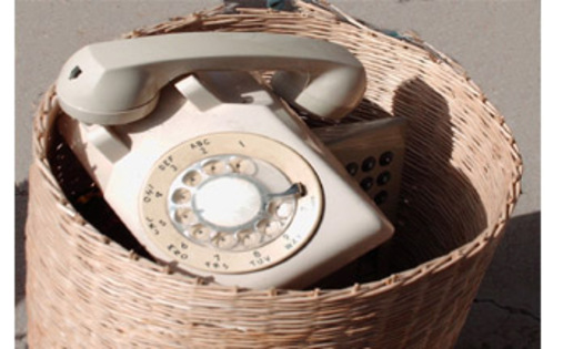 PHOTO: Are land-line phones headed for the trash? Courtesy: Beth Blakeman