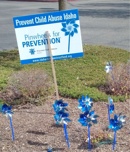 PHOTO: April is Child Abuse Prevention Month. Pinwheels are the symbol for prevention. They're being planted all over Idaho to raise awareness.