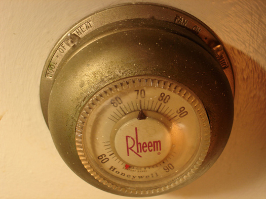 PHOTO: The new report �Turning up the Heat II� says the thermostat industry's voluntary recycling program has captured only 8 percent of the mercury thermostats that have gone out of service in the past decade. CREDIT: Stephen Cummings