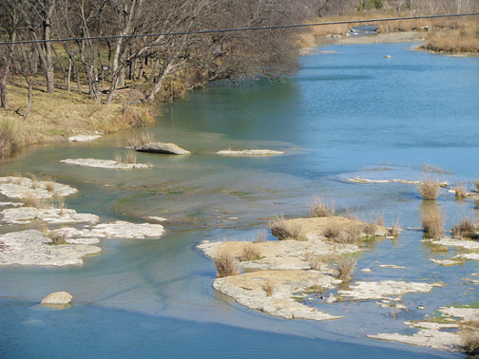 PHOTO: The San Saba River in Texas has been named one of America's Most Endangered Rivers for 2013. The report from American Rivers says the San Saba is being threatened by excessive water withdrawals. CREDIT: Frank Bodden