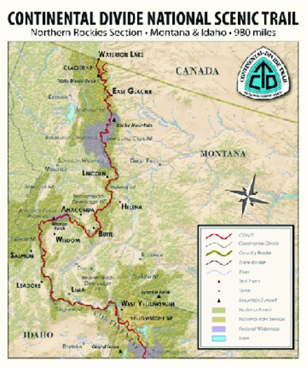 MAP: Volunteers are needed to work on the Continental Divide National Scenic Trail this summer. Five Montana breweries are hosting events to spark interest in the projects. Map courtesy of CDTMontana.org