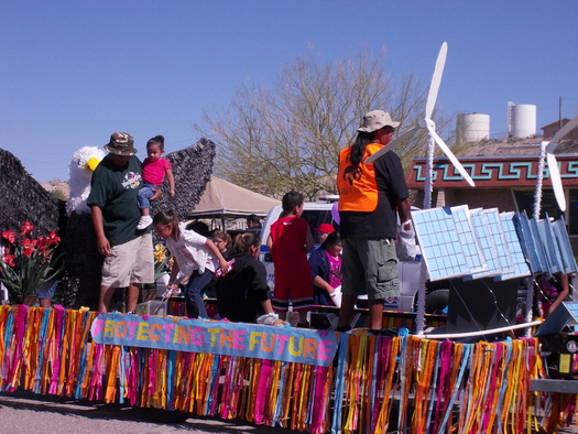 PHOTO: Moapa Paiutes advocate for clean energy. Photo credit: Jane Feldman