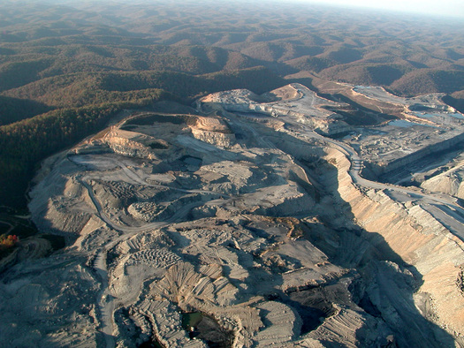 PHOTO: Two federal appeals courts have strengthened the EPA's ability to limit pollution from mountaintop removal mines. Photo by Vivian Stockman, flyover courtesy of SouthWings.org