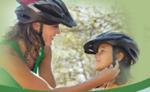 It's Bike Helmet Safety Awareness Week and schools and organizations statewide are holding safety events to encourage adults and children to wear their helmets.  Photo courtesy of Ohio AAP.