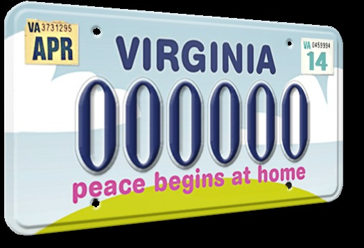 GRAPHIC: New license plate will help fund domestic and sexual violence prevention program in Virginia. Image credit: Virginia Sexual and Domestic Violence Action Alliance