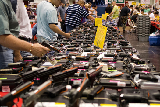 PHOTO: It made it through committee, but a bill to require background checks by unlicensed dealers at gun shows in Minnesota has still not been scheduled for a vote on the House floor. CREDIT: M. Glasgow