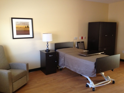 PHOTO: An intensive fundraising effort by local veterans' groups has allowed for upgraded room interiors at the new Southern Utah Veterans Nursing Home in Ivins. Courtesy of Utah Dept. of Veterans Affairs.
