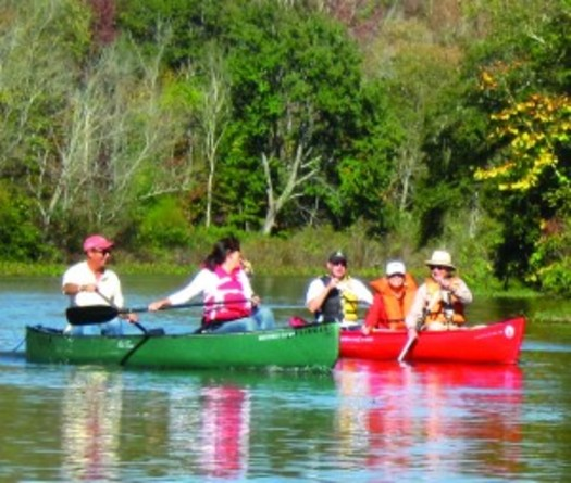 Photo: Canoeing in North Carolina. Courtesy: Land Trust of Central North Carolina