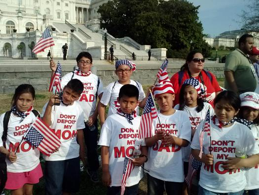 Photo: Children of immigrant families participate in immigration rally on Capitol Hill. Photo credit: First Focus