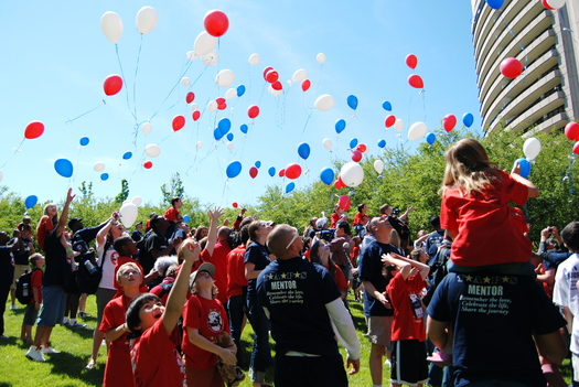 """PHOTO: About 500 kids whose parents have died while serving in the military are participating in """"Good Grief Camp"""" this Memorial Day Weekend. Courtesy of TAPS."""