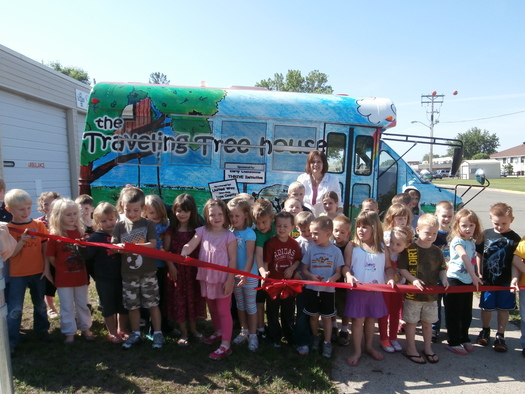 PHOTO: The Traveling Treehouse brings education and activities to child care centers, festivals and housing complexes. CREDIT: Pope County Family Collaborative