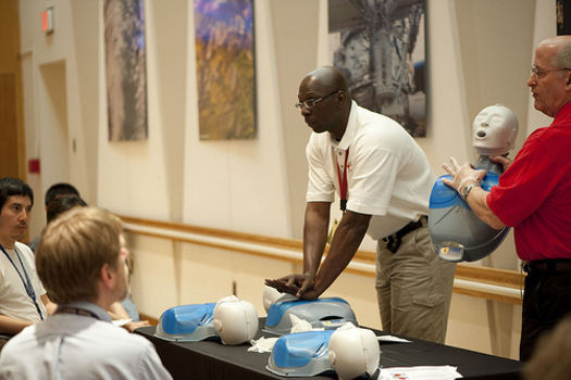 PHOTO: This is National CPR and AED Awareness Week. They are skills that are easy to learn and can save lives, but currently only about 1 in 3 people who have a sudden cardiac arrest receive CPR from a bystander. CREDIT: NASA