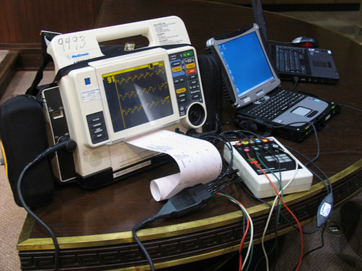 PHOTO: Technology allows for the wireless transmittal of EKGs of STEMI patients to area hospitals. CREDIT: Greater Louisville Medical Society