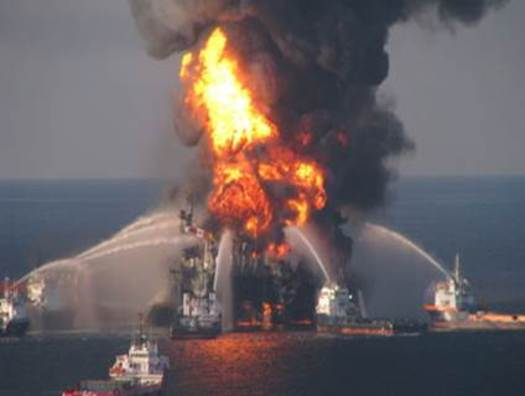 Photo: Deepwater Horizon explosion. Courtesy: Florida National Wildlife Federation