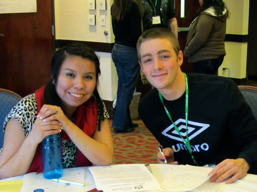 PHOTO: Haley and Royce are two of the youth facilitators participating in this week's foster youth summit in Grande Ronde. Courtesy of Oregon Foster Youth Connection.
